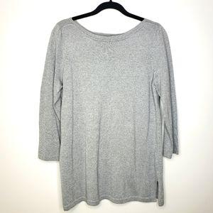 Jones New York Silver Metallic Tunic Sweater